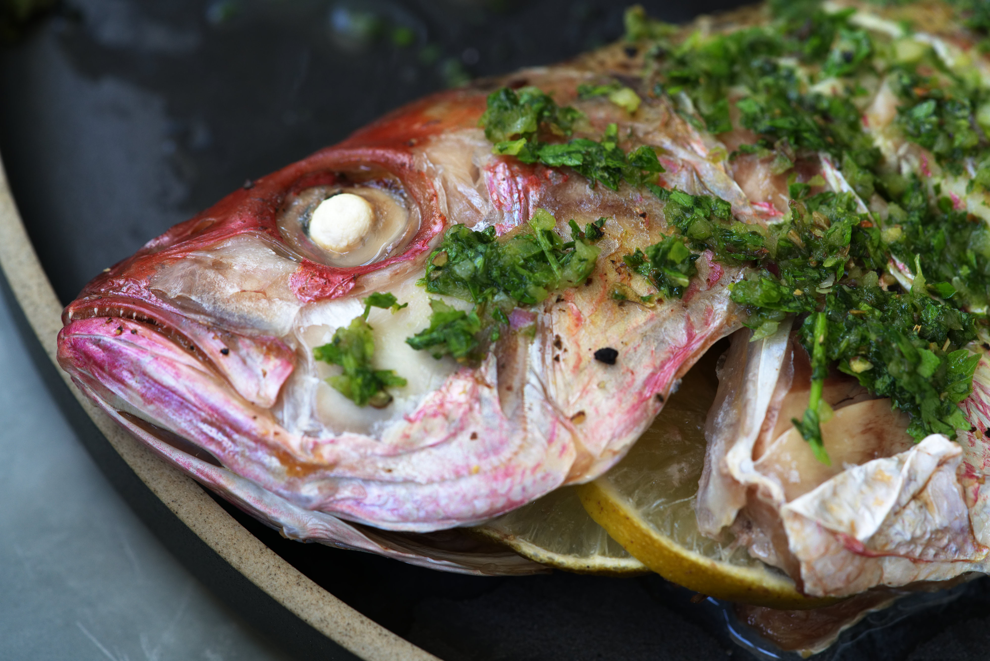 Whole Roasted Snapper with Chimichurri | Proportional Plate