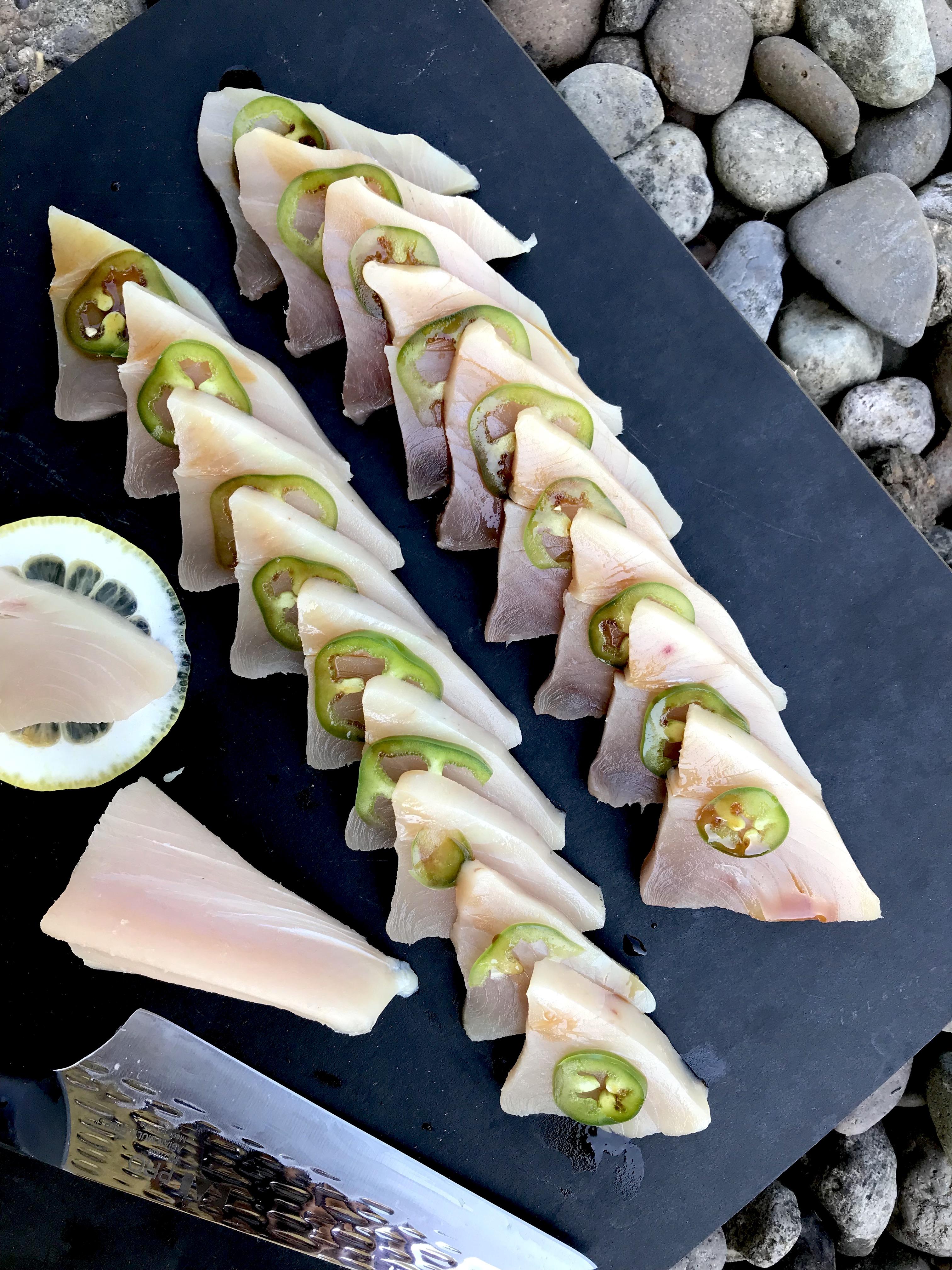 Albacore Sashimi with Jalapeño & Ponzu | Proportional Plate