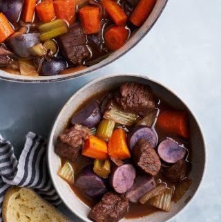 Red Wine & Honey Braised Beef Stew + Fall Pantry Essentials