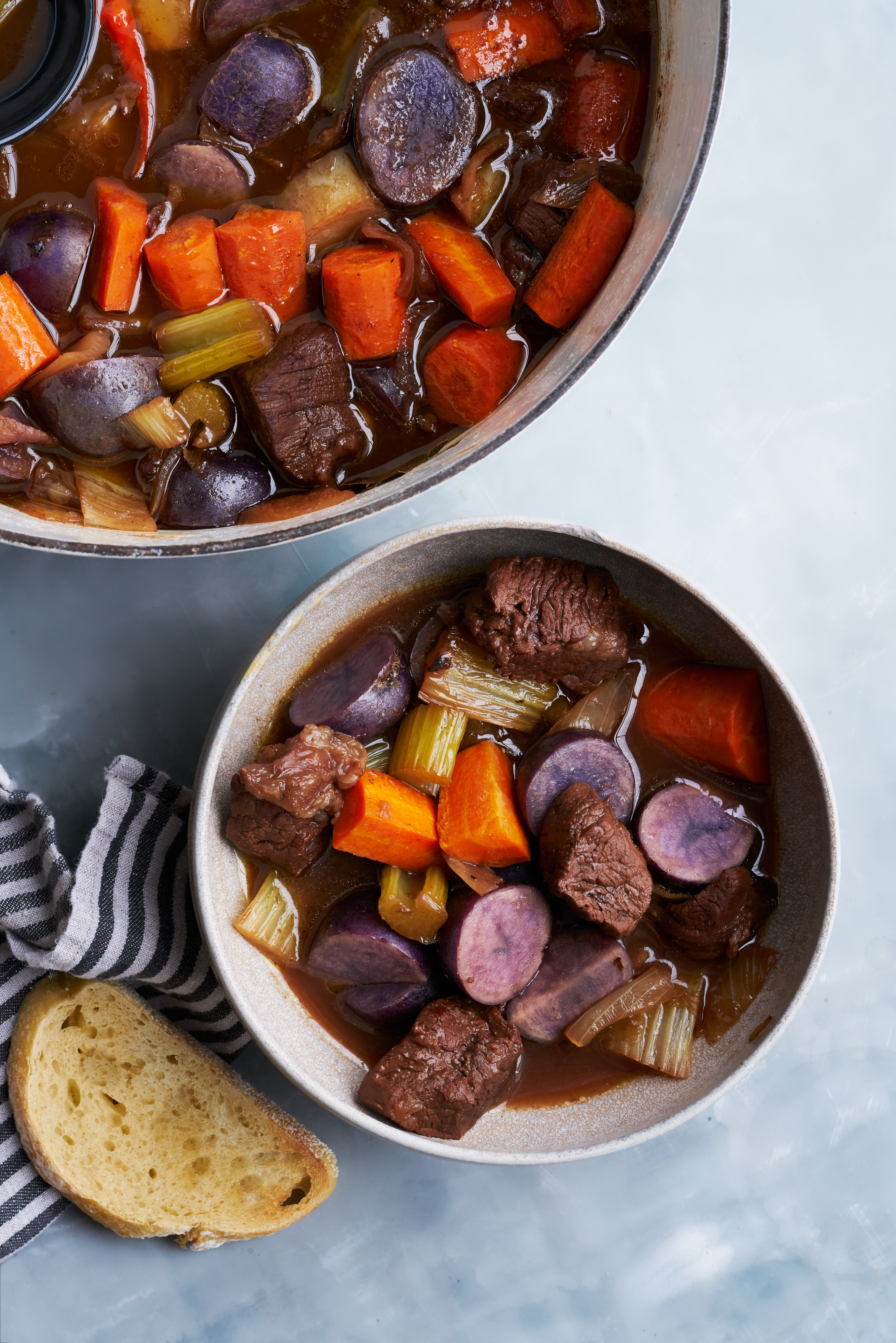 Red Wine & Honey Braised Beef Stew | Proportional Plate