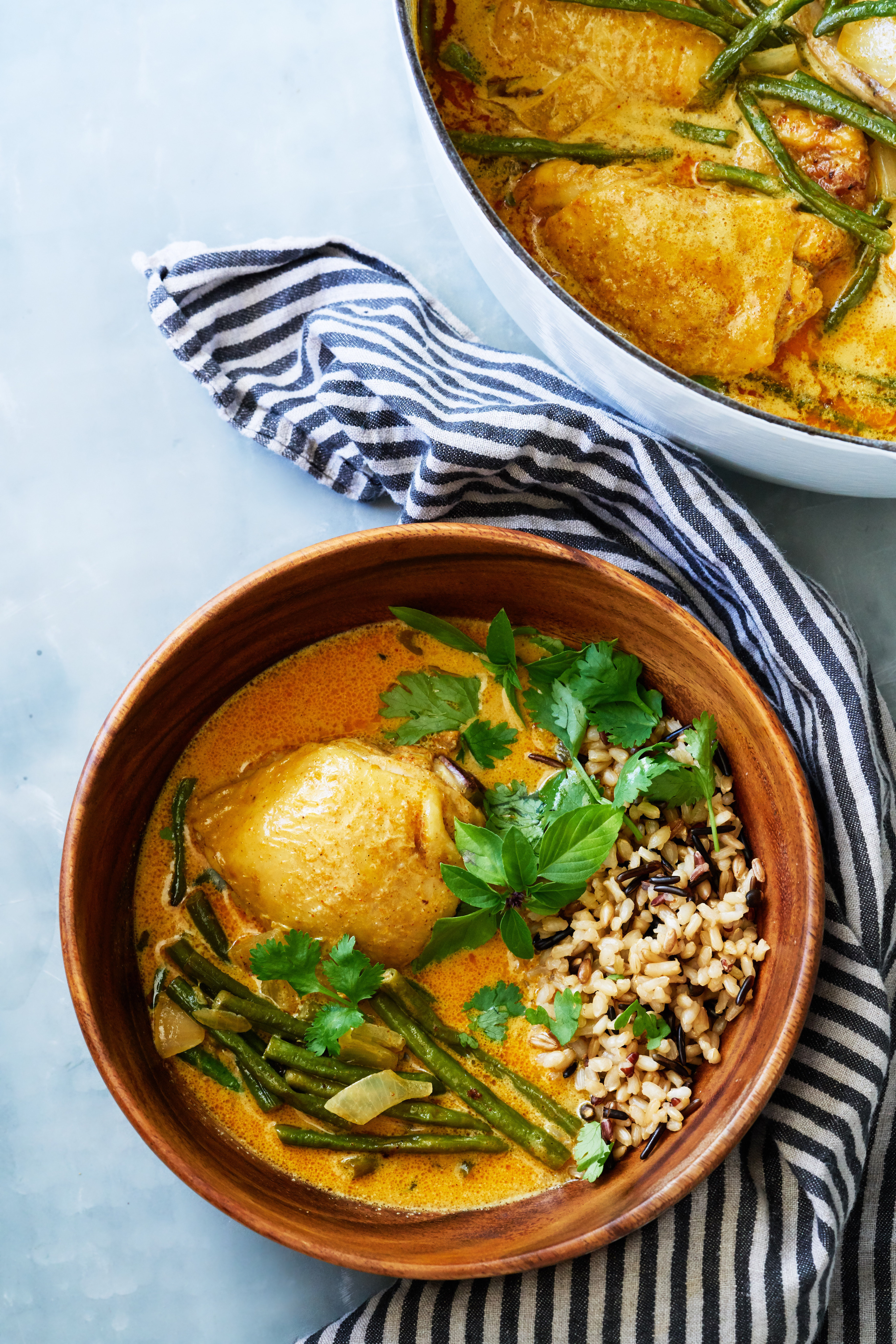Thai Lime Coconut Curry with Chicken & Green Beans | Proportional Plate