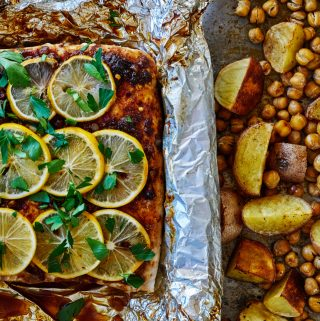 Paprika Fish with Chickpeas & Potatoes